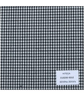 Casimir Pie de Poule Blanco Negro